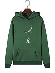 cheap -Women's Pullover Hoodie Sweatshirt Graphic Casual Hoodies Sweatshirts  Loose White Black Red