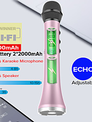 cheap -Lewinner-Professional Karaoke Microphone Portable Wireless Bluetooth Speaker for iphone phone Handheld Dynamic Microphone