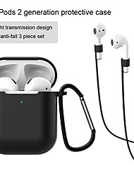 cheap -Airpods 1 2 Generation Protective Case Light Transmission Design Anti-fall 3 piece set