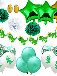 cheap -Party Balloons 14+5 pcs Dinosaur Party Supplies Latex Balloons Banner Boys and Girls Party Birthday Decoration 12inch for Party Favors Supplies or Home Decoration