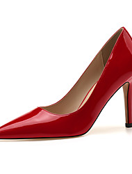 cheap -Women's Heels Stiletto Heel Pointed Toe Basic Minimalism Daily Office & Career Solid Colored Patent Leather Almond / White / Black