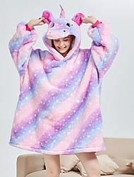 cheap -Adults' Kigurumi Pajamas Bathrobe Unicorn Flying Horse Onesie Pajamas Flannel Fabric Purple Cosplay For Men and Women Animal Sleepwear Cartoon Festival / Holiday Costumes / Bath Robe