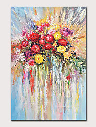 cheap -Mintura Hand Painted Flowers Oil Paintings on Canvas Modern Abstract Wall Picture Pop Art Posters For Home Decoration Ready To Hang
