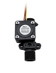 cheap -SEN-HZ21WD Temperature Probe Added Flow Transmitter Solar Water Heater Plastic Sensor Plastic Water Flow Meter