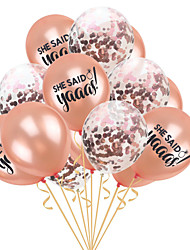 cheap -Party Balloons 15 pcs Flamingo Hawaii Party Supplies Latex Balloons Confetti Balloons Boys and Girls Party Wedding Birthday 12inch for Party Favors Supplies or Home Decoration