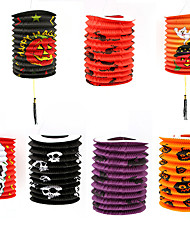 cheap -Halloween Party Toys Halloween Lantern 7 pcs Pumpkin Spiders Masquerade Random Color Paper Trick or Treat Halloween Party Favors Supplies