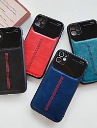 cheap -iPhone11Pro Max Eye Protection Car Line Leather Pattern Mobile Phone Case XS Max Anti-drop Anti-fingerprint 6 7 8Plus SE 2020 Protective Case