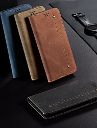 cheap -Case For OPPO Oppo Ace 2 Wallet / Flip Full Body Cases Lines / Waves / Solid Colored PU Leather
