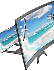 cheap -3D Video Mobile Phone Magnifying Glass Stand Bracket Phone Foldable Holder 12inch New Mobile Phone Curved Screen Amplifier HD