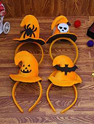 cheap -Halloween Party Toys Halloween Headband 4 pcs Pumpkin Masquerade Random Color Fabrics Kid's Adults Trick or Treat Halloween Party Favors Supplies