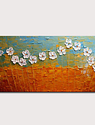 cheap -Mintura Hand Painted Knife Flowers Oil Paintings on Canvas Modern Abstract Wall Art Picture Posters For Home Decoration Ready To Hang