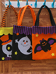 cheap -Halloween Party Toys Non-woven Bags Halloween Gift Bags Cat Skull Skeleton Pumpkin Cartoon Witch with Handles Non-woven Fabrics Kid's Adults Trick or Treat Halloween Party Favors Supplies