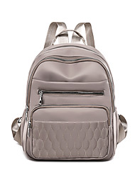 cheap -Women's Girls' Nylon School Bag Mini Backpack Large Capacity Waterproof Zipper Solid Color Daily Outdoor Backpack Wine Black Purple Khaki Dark Blue