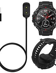 billige -1 m ladekabel for amazfit t-rex a1918 gtr 42mm 47mm gts smartwatch usb ladeadapterledning