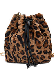 cheap -Women's Sequin Velvet Crossbody Bag Fur Bag White / Black / Brown
