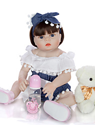 cheap -KEIUMI 22 inch Reborn Doll Baby & Toddler Toy Reborn Toddler Doll Baby Girl Gift Cute Washable Lovely Parent-Child Interaction Full Body Silicone KUM23FS04-WW40 with Clothes and Accessories for