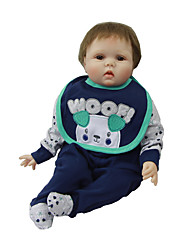 cheap -Reborn Baby Dolls Clothes Reborn Doll Accesories Cotton Fabric Dog Soft Pure Handmade Boys' 3 pcs