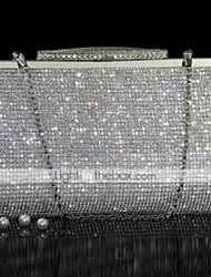 cheap -Women's Bags PU Leather Evening Bag Crystals Wedding Bags Party Event / Party Gold Silver