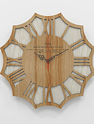 cheap -15 Inch Round Wood Hanging Wall Clock, Battery Operated, Rustic Wall Decor for the Living Room, Kitchen, Bedroom, and Patio 40cm*40cm