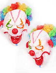 cheap -Halloween Party Toys Masks Costume Hooded Masks 2 pcs Clown Thrilling Masquerade Vinyl Adults Trick or Treat Halloween Party Favors Supplies