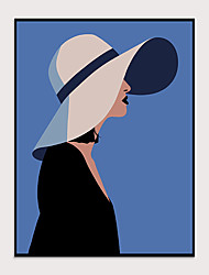 cheap -Art-Framed Pop Cartoon Canvas Printing Modern Girl  Wall Art Suitable for Living Room Decoration Ready To Hang 1 Piece