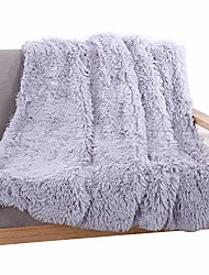 cheap -Super Soft Shaggy Faux Fur Blanket Ultra Plush Decorative Throw Blanket
