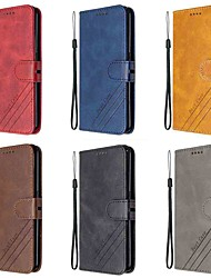 cheap -Case For Sony Xperia 1 II Xperia 10 II Wallet Card Holder with Stand Full Body Cases Solid Colored PU Leather TPU