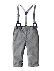 cheap -Baby Boys' Basic Check Pants White