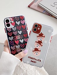 cheap -Case For Apple iPhone 11ProMax Transparent Cute Pattern Back Cover Animal Cartoon TPU