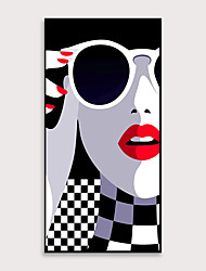 cheap -Framed Art Pop Cartoon Canvas Printing Modern Fashion Models PS Oil Painting  Wall Art Suitable for Porch Corridor Decorates Ready To Hang