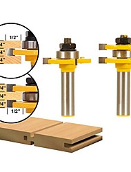 cheap -1/4 Plywood 2 Bit Plywood Tongue and Groove Router Bit Set - 1/2 Shank 2PCS