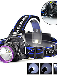 cheap -Headlamps Waterproof Rechargeable 1800 lm LED LED 1 Emitters 3 Mode with Batteries and Chargers Waterproof Rechargeable Camping / Hiking / Caving Everyday Use Cycling / Bike