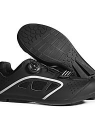 cheap -BOODUN Adults' Bike Shoes Road Bike Shoes Nylon Breathable Anti-Slip Mountain Bike MTB Road Cycling Cycling / Bike Black Black / Green Men's Women's Cycling Shoes / Hook and Loop