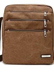 cheap -Men's Canvas Crossbody Bag Canvas Bag Black / Army Green / Khaki