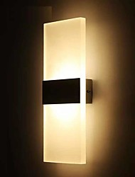 cheap -LED Wall Sconce Wall Lighting 6W 12W Acrylic Wall Lamp for Bedroom Corridor Stairs Bathroom Indoor Lighting Fixture Round Rectangle