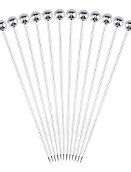 cheap -Stainless Steel Cocktail Picks and Fruit Sticks 12 Pcs