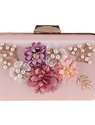 cheap -Women's Bags Silk Evening Bag Zipper / Chain for Daily Almond / Blushing Pink / Dusty Rose / Wedding Bags