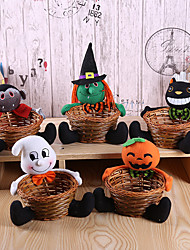 cheap -Halloween Party Toys Halloween Candy Basket 2 pcs Cat Pumpkin Witch Vampire Bamboo Fabrics Kid's Adults Trick or Treat Halloween Party Favors Supplies
