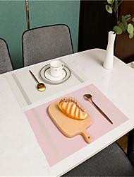 cheap -4 Pcs PVC Teslin West Placemat Hotel Restaurant Heat-insulation Anti-skid Plate Mat Coaster