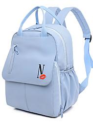 رخيصةأون -مقاوم للماء نايلون سحاب حقيبة ظهر لون الصلبة مناسب للبس اليومي أسود / أرجواني / أصفر