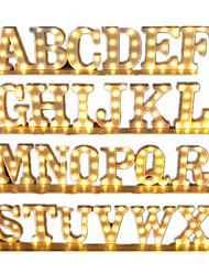 cheap -LED Décor Light A to Z Alphabet LED Marquee Sign Light Indoor Wall Hanging LED Night Lamp Indoor Proposal Wedding Party Birthday Party Christmas Holidays Home Bar