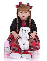cheap -KEIUMI 22 inch Reborn Doll Baby & Toddler Toy Reborn Toddler Doll Baby Girl Gift Cute Washable Lovely Parent-Child Interaction Full Body Silicone 23D125-C147-S24-S05-T23 with Clothes and Accessories