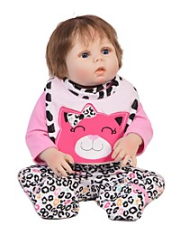 cheap -Reborn Baby Dolls Clothes Reborn Doll Accesories Cotton Fabric for 22-24 Inch Reborn Doll Not Include Reborn Doll Cat Sweet Heart Soft Pure Handmade Girls' 4 pcs