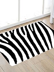 cheap -Simple Black Stripes Modern Bath Mats Nonwoven / Memory Foam Novelty Bathroom