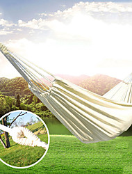 cheap -Camping Hammock Outdoor Breathability Wearable Reusable Adjustable Flexible Folding Nylon PVA for 1 person Hunting Hiking Beach White 200*150 cm Pop Up Design