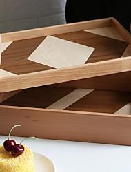 povoljno -kombinirajući drvenu pladanj ladice za nordijski stil hit boje s / bez ručke drveni pladanj za čaj za pečenje voća