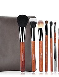 cheap -Professional Makeup Brushes 8pcs Professional Soft Full Coverage Artificial Fibre Brush Wooden / Bamboo for Foundation Brush Makeup Brush Lip Brush Eyebrow Brush Eyeshadow Brush