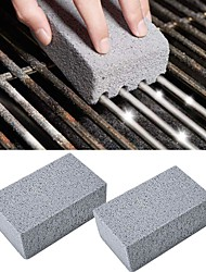 cheap -BBQ Grill Cleaning Brick Cleaning Stone 2 Pcs