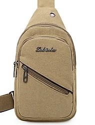 cheap -Men's Canvas Sling Shoulder Bag Canvas Bag Black / Khaki / Green