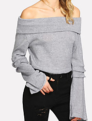 cheap -Women's Tee / T-shirt Long Sleeve Knitting Sport Athleisure T Shirt Soft Everyday Use Daily Street